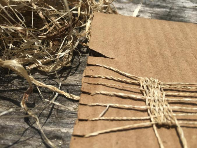 kudzu fiber cardboard loom 2018